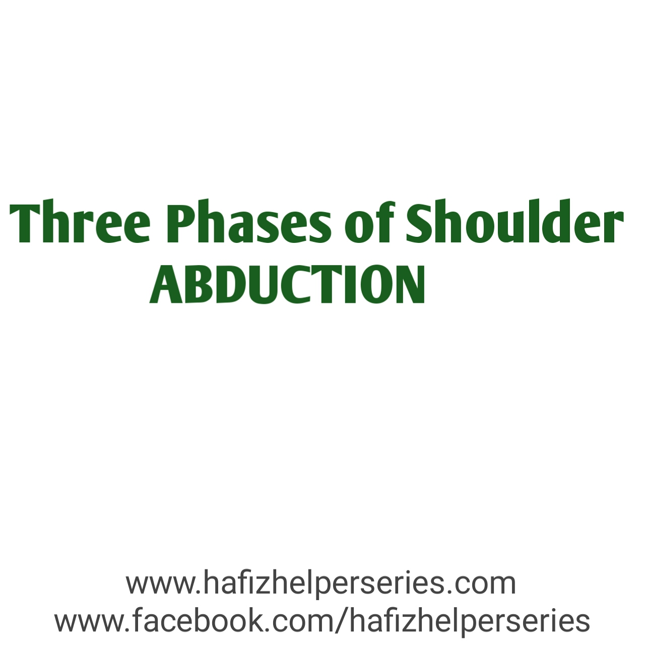 Three Phases of Shoulder ABDUCTION Movement