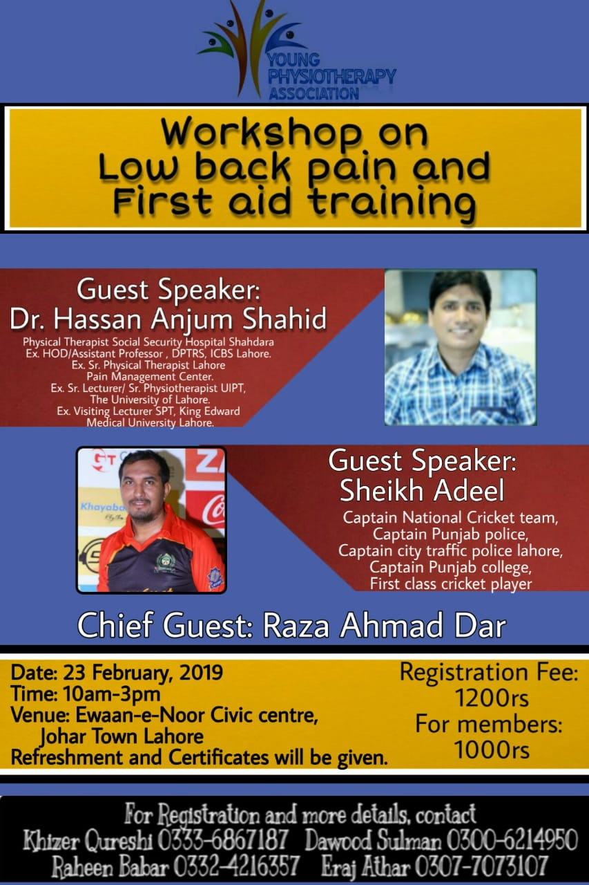 Workshop by Young Physiotherapy Association 2019