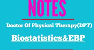 "Study Guideline and NOTES of ""Biostatistics & Evidence Based Practice"""