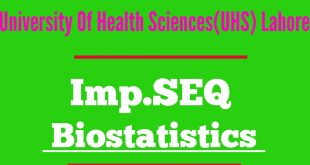 Bio-statistics Important SEQ according to Syllabus UHS