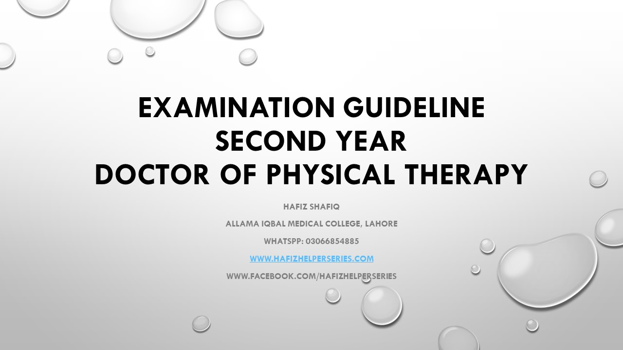 Examination Guideline for Second Year Doctor of Physical Therapy (DPT) at UHS