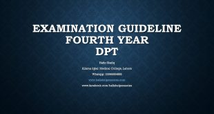Examination Guideline for Fourth Year Doctor of Physical Therapy (DPT) at UHS