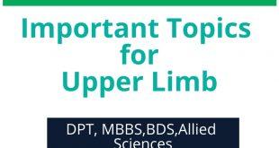 Anatomy: Important Topics for Upper Limb (DPT, MBBS, BDS)