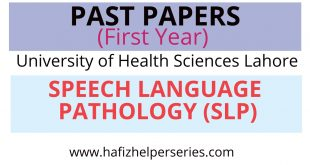 Past Papers First year||Speech Language Pathology(SLP) ||UHS