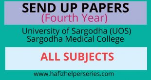 Send up Papers DPT 2019|| Sargodha Medical College