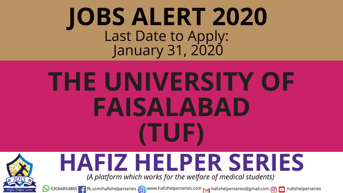 Position Vacant at The University of Faisalabad|| Jobs 2020