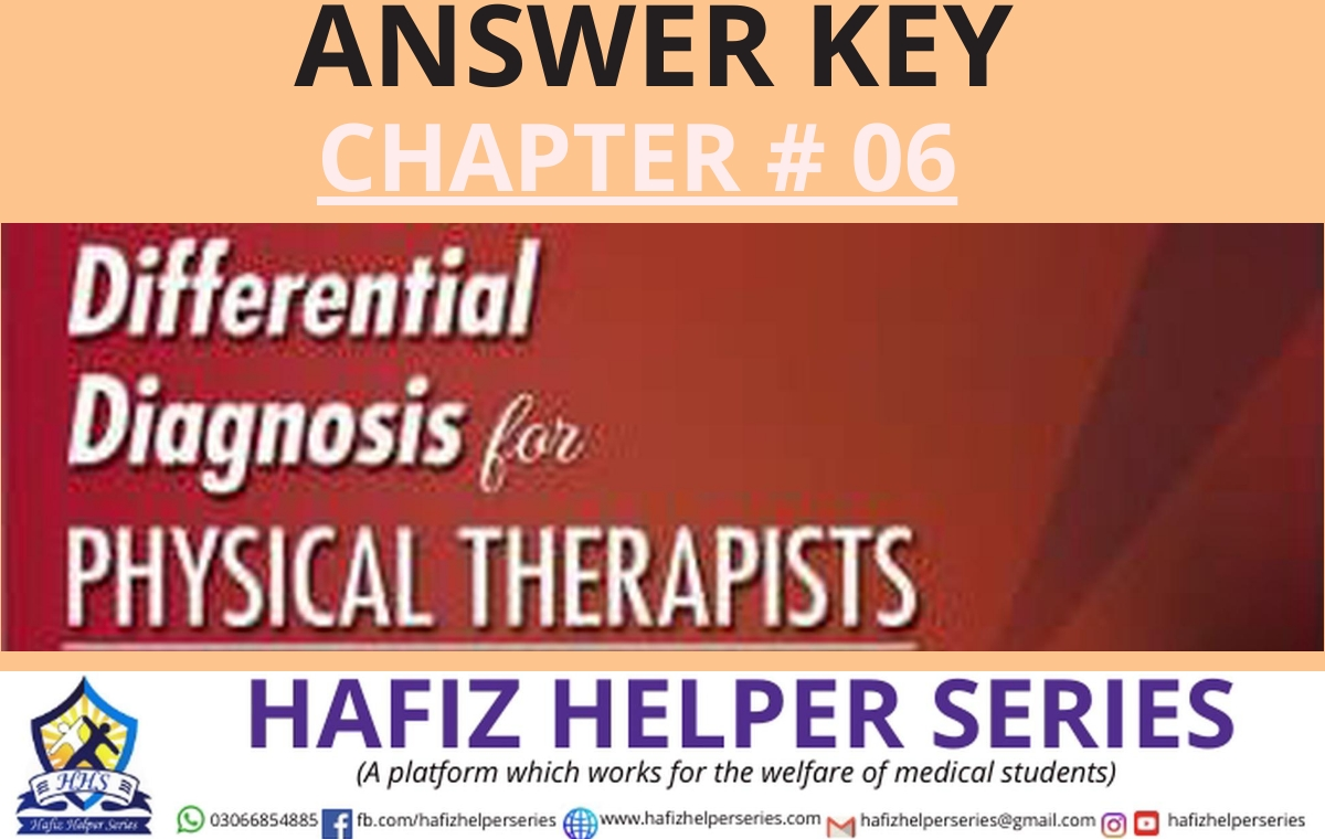 Differential Diagnosis (DD) Answer Key || Chapter 06