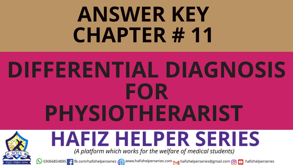 Elsevier: Goodman & Snyder: Differential Diagnosis for Physical Therapists Screening for Referral|| Chapter 11 (Answer Key)