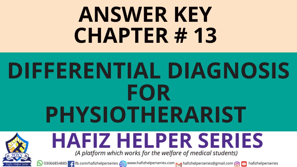 Elsevier: Goodman & Snyder: Differential Diagnosis for Physical Therapists Screening for Referral|| Chapter 13 (Answer Key)