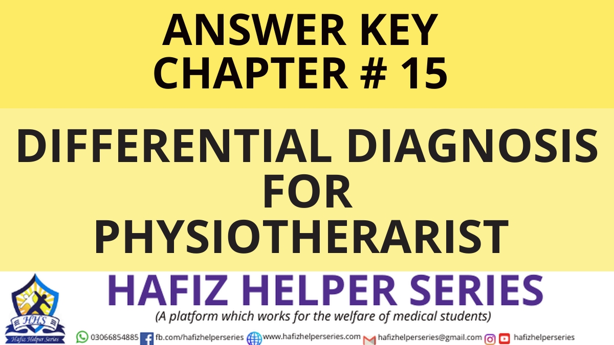 Elsevier: Goodman & Snyder: Differential Diagnosis for Physical Therapists Screening for Referral|| Chapter 15 (Answer Key)