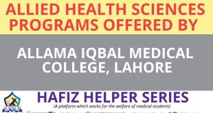 Allied Health Sciences Programs offered by Allama Iqbal Medical College, Lahore